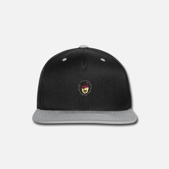 Pirate Caps - Corsair With Eye Patch Mascot - Snapback Cap black/gray