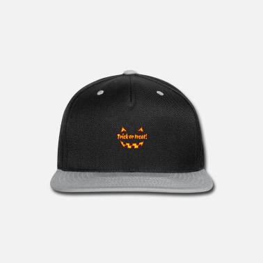 Undead Halloween trick or treat with pumpkinface - Snap-back Baseball Cap