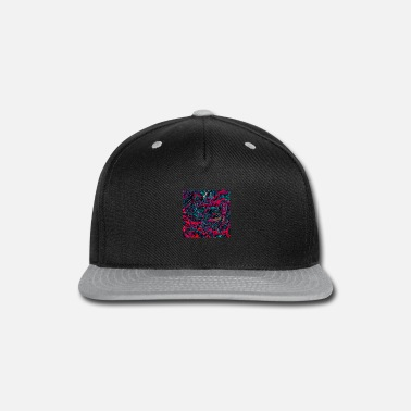 Psychedelic Abstract Paint Mix 14 - Snap-back Baseball Cap