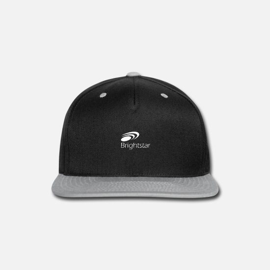 Star Of David Caps - Bright Star - Snapback Cap black/gray