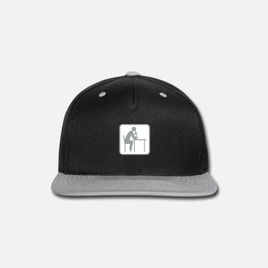 Research researcher button microscope researcher research l - Snapback Cap