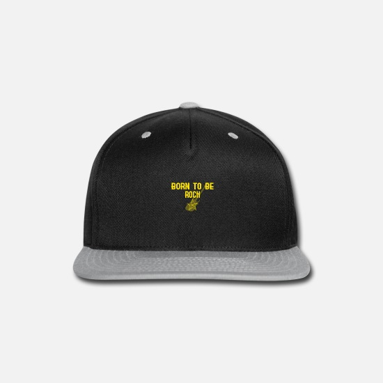 Death Caps - BORN TO BE ROCK gift - Snapback Cap black/gray