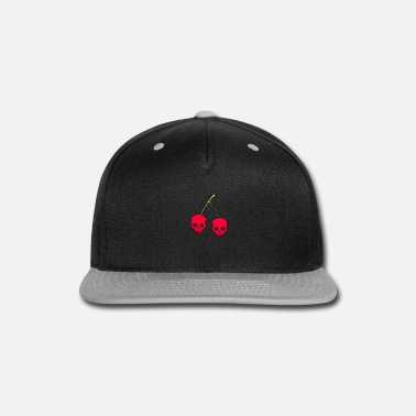 Red Skull Cherries Skull Gift - Snapback Cap