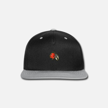 Indigenous Mohawk Brave Warrior Head Side Mascot - Snapback Cap