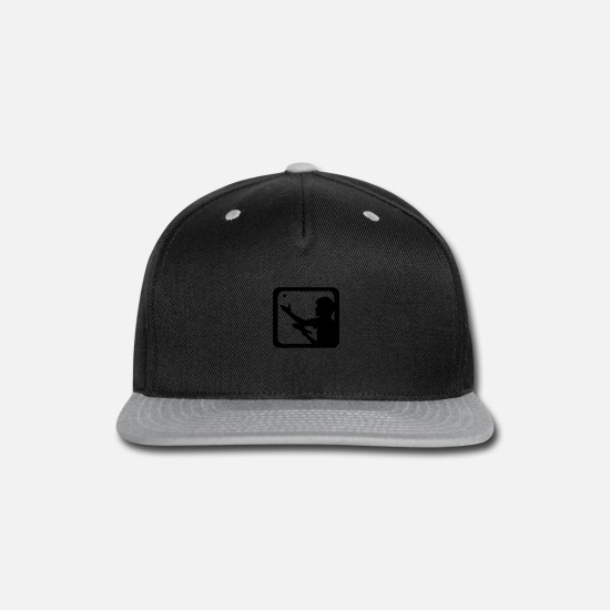 Table Tennis Caps - A guy with a racket - Snapback Cap black/gray