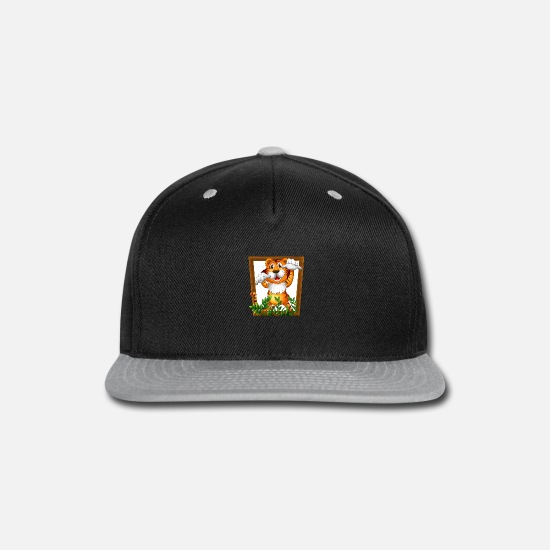 Marine Animal Caps - Tiger And Frame - Snapback Cap black/gray