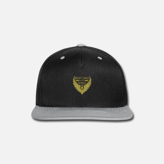 World's Best Caps - Best dad in the world tee - Snapback Cap black/gray