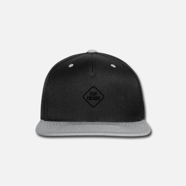 Note stay focused note shield warning caution icon desi - Snapback Cap