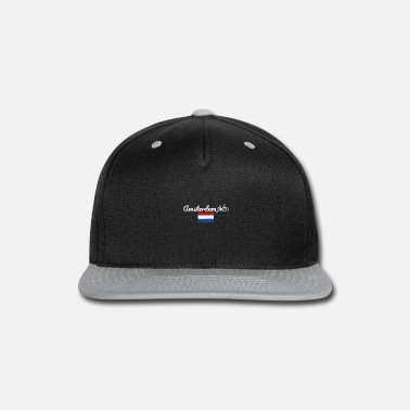 New Father Bike Amsterdam Netherlands Bike City Gift Idea - Snapback Cap
