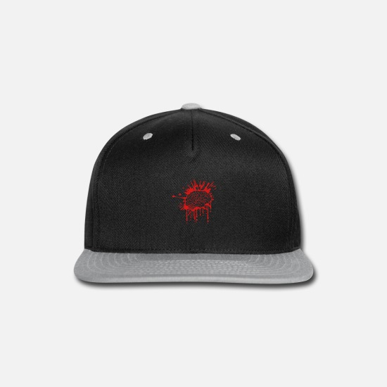Organ Caps - Disgusting bloody brain - Snapback Cap black/gray
