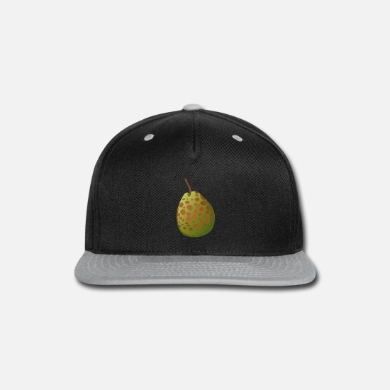 Foodie Caps - Spotted Guava - Snapback Cap black/gray