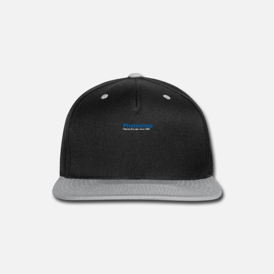 Photoshop Caps - Photoshop Helping The Ugly Since 1988 - Snapback Cap black/gray