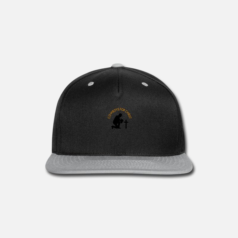 best service 4de7e dfbca Cowboy Caps - Cowboys For Christ - Snapback Cap black gray