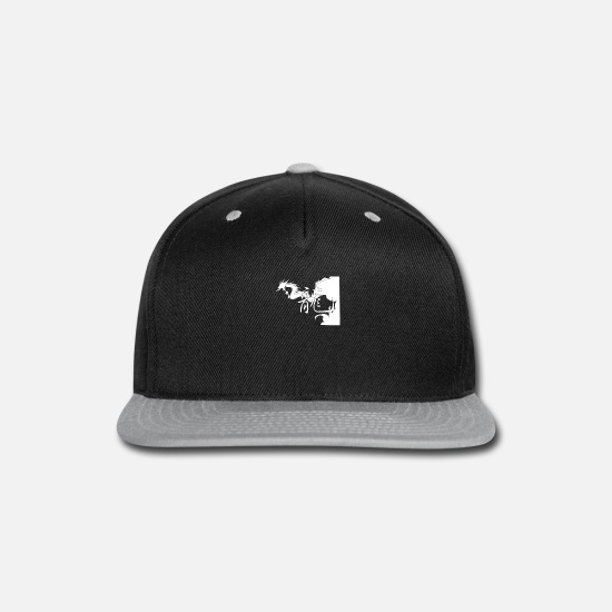 Writing Caps - Antontw Chinese Dragon - Snapback Cap black/gray