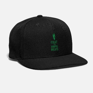 Animal Rights Activists Fight For Animal Rights funny tshirt - Snapback Cap