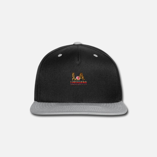 Floral Caps - La Louisiana - Snapback Cap black/gray