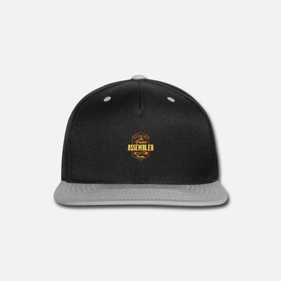 Assembler Gag Gifts Caps - Genuine and trusted Assembler - Snapback Cap black/gray