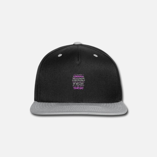 Cash Caps - I have enough money - Snapback Cap black/gray