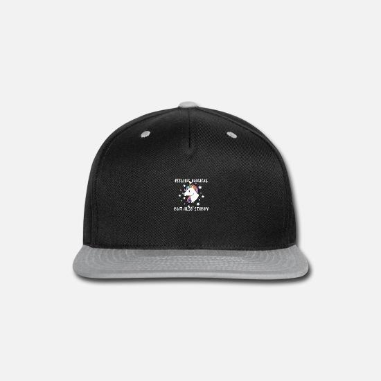 Custom Personalized Snapback Always Be A Unicorn Travel Hats Black