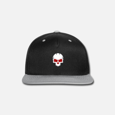 Spartan white skull with red eye - Snap-back Baseball Cap