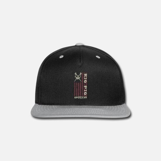 size 40 b4809 0d5ec Rig Caps - American Rig Pig Oil Worker Roughneck 1 - Snapback Cap black gray