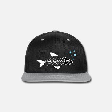 Eagle Head Fish skeleton black with bubbles - Snap-back Baseball Cap