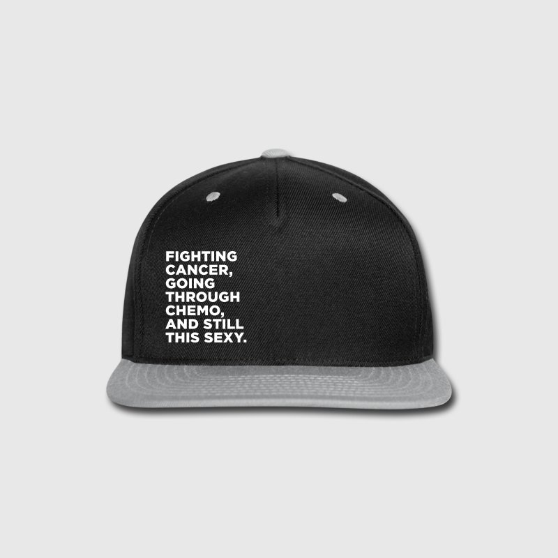 Cancer Fighter Quote - Snap-back Baseball Cap