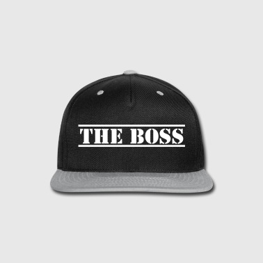 THE BOSS in stencil funny - Snap-back Baseball Cap