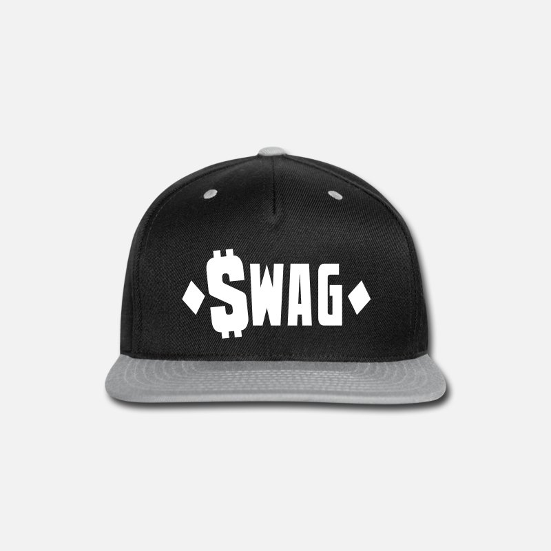 Dollars Caps - swag $WAG with dollars and diamonds - Snapback Cap black/gray