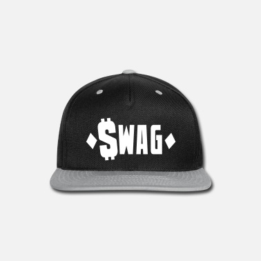 Swag swag $WAG with dollars and diamonds - Snap-back Baseball Cap