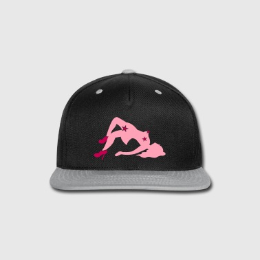 sexy lady with rude stars NSFW - Snap-back Baseball Cap