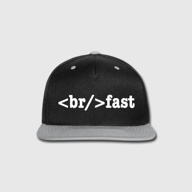 Programmer breakfast HTML Code  - Snap-back Baseball Cap
