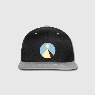 Pyramid with Sun - Snap-back Baseball Cap