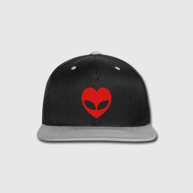Alien Love Heart - Snap-back Baseball Cap