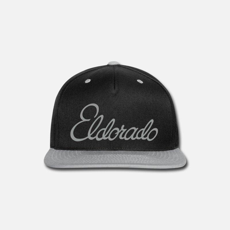 Cadillac Caps - Cadillac El Dorado script - Snapback Cap black gray a5cd59c40819