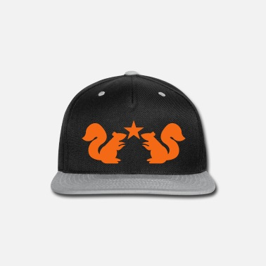 Mouse squirrels emblem cute with star rampant - Snap-back Baseball Cap