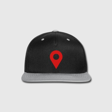 map location icon - Snap-back Baseball Cap