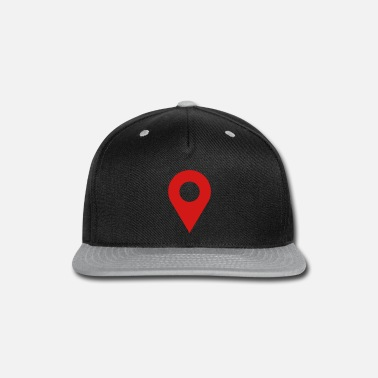 Icon map location icon - Snap-back Baseball Cap