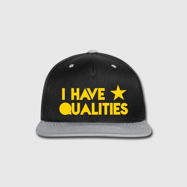 I HAVE STAR stars QUALITIES! in pink - Snap-back Baseball Cap
