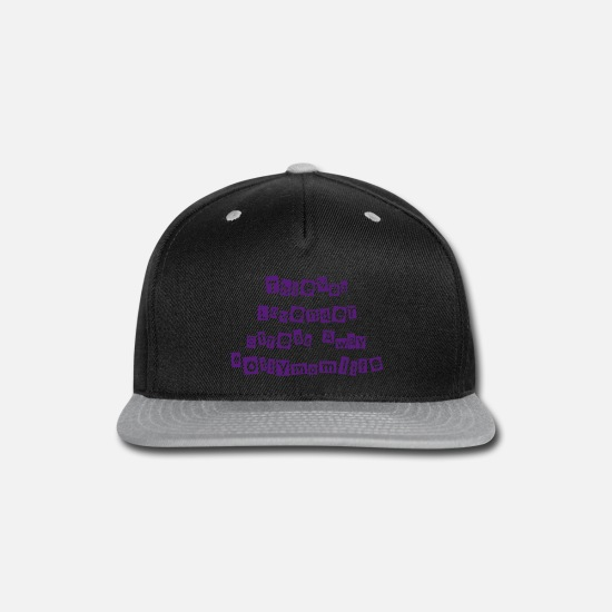Lovely Caps - Oily Mom Life - D3 - Snapback Cap black/gray