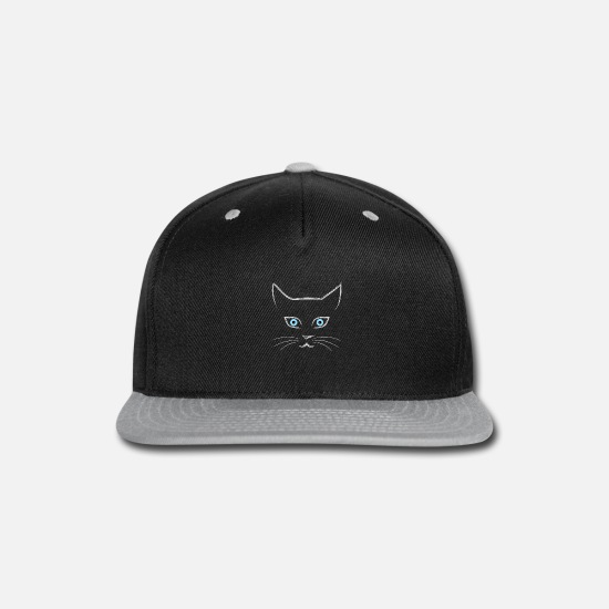 Face Caps - Cat's face - Snapback Cap black/gray