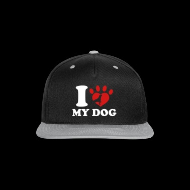I Love My Dog - Snap-back Baseball Cap