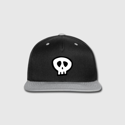 4020 Skull1 - Snap-back Baseball Cap