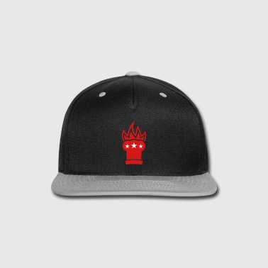 Chef's hat in flames - Snap-back Baseball Cap