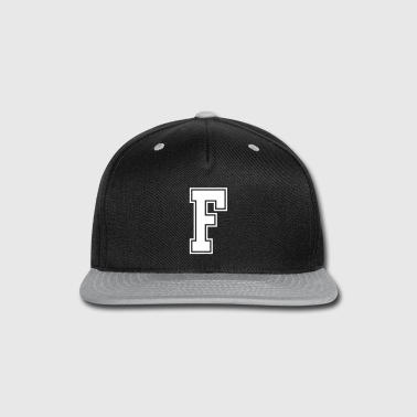 Letter F - Snap-back Baseball Cap
