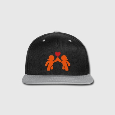 EVE and EVE ladies in love  - Snap-back Baseball Cap