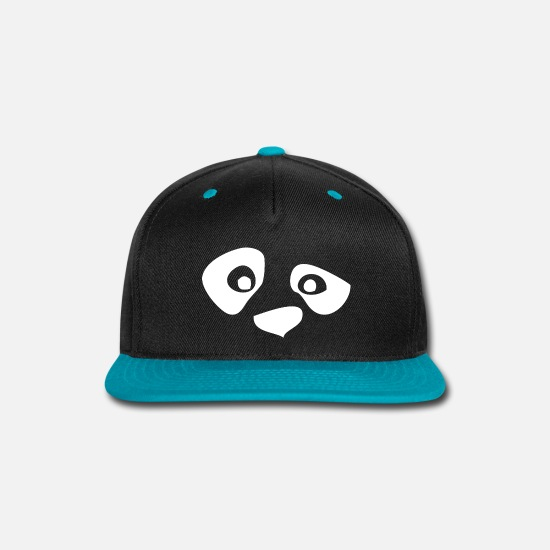 Witching Hour Caps - Mask Panda - Snapback Cap black/teal