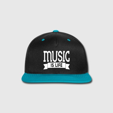 Music music is life - Snap-back Baseball Cap
