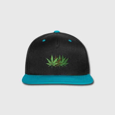 Scratch Cannabis leafs scratched - Snap-back Baseball Cap