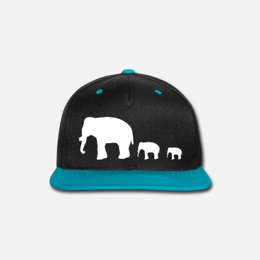 Group elephant group - Snap-back Baseball Cap